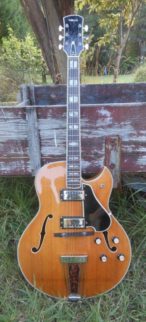 Early seventies Yamaha AE-11 with non original, ebony bridge.