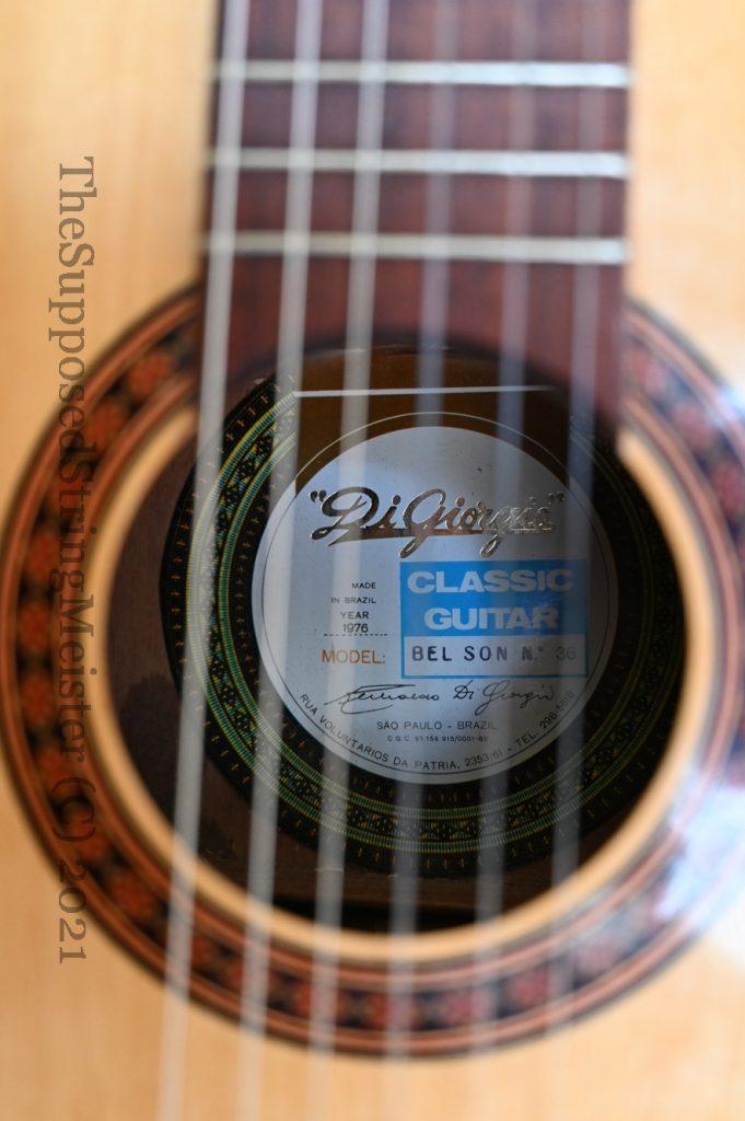 Di Giorgio Bel Son No. 36 Classic Guitar Neck Reset